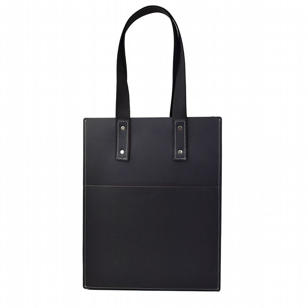 Recycled Leather - Tote Bag - Black